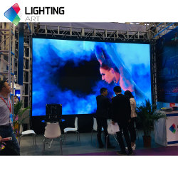 شاشة عرض LED داخلية جيدة الجودة P3.91 SMD Rental Flex /عرض عريض