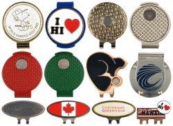 ロゴの紋章のカスタムゴルフ・ボールのマーカーのブランクの磁石の金属のDivotのツールのゴルフ帽子クリップ