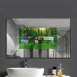 Новая установка на стену внутри помещения Волшебное зеркало рекламы ЖК-дисплей