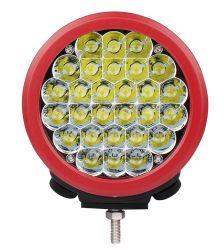 Redondo de 7 pulgadas de 140W de protección IP68 Offroad Rojo/Negro CREE LED de automático Luz de trabajo para la conducción 4X4, camión, Jeep con garantía de 2 años
