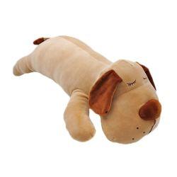 Lecteur de disquette brun doux de promotion de gros chien oreiller jouet en peluche