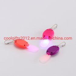 Promotionele Mini Flash Torch kunststof aangepaste sleutelhanger UV-licht sleutel Sleutelhanger ring-/LED-lampje