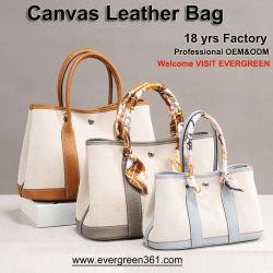 Sacs à main en cuir véritable réel des femmes Mesdames Tote Sacs à main Lady Sling toile sac à main designer de mode de gros sacs à main de l'épaule Guangzhou usine OEM de sac à main