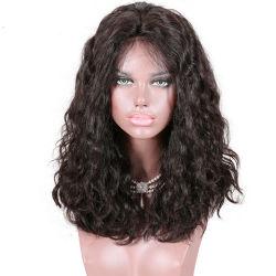 A densidade de 220 4 5 polegadas de profundidade Parte Indian Remy Hair Milão Wave Front Lace Perucas -02