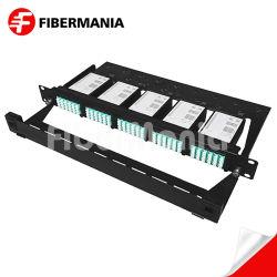 El MTP/MPO Patch panel 1U de alta precisión de las fibras de 120 de fibra óptica OM3 LC Diseño personalizado