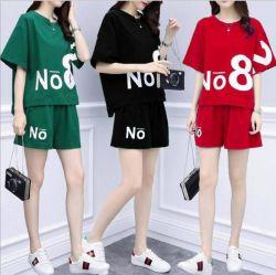 Plus-Size Casual Sportswear Les femmes d'usure d'été de nouveau la version coréenne de Loose T-shirt Shorts Fashion ensemble en deux pièces, de poursuite