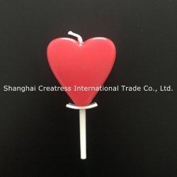 A forma elegante de seis cores disponíveis coração vermelho bolo decoração de velas