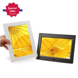 8 pouces de boucle de jeu vidéo USB Cadre photo numérique LCD parfait pour affichage en temps de l'horloge