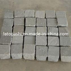 Opgepoetst/Gevlamd/tuimel/Goedkope Grijze Cobble van het Graniet Steen