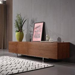 現代ホーム家具MDFのベニヤの居間木TVのベンチ/TV表