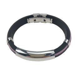 Personalizados personalizados pulseiras de Silicone Energia Energia Band pulseiras ajustável
