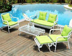 2019 prix d'usine Hot Fabricant de vente en gros à la corde Patio extérieur Président et de table Set terrasse jardin extérieur des meubles en rotin en osier