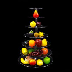 Gâteau Mutil-Tiers Présentoir acrylique Fruits Affichage pour l'anniversaire de mariage