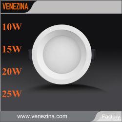 De commerciële Verlichting Nieuwe 10W 15W 20W 25W zette Economische LEIDENE van het Lichaam van het Afgietsel van de Matrijs Witte Ronde Downlight in een nis