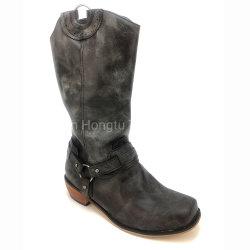 Мужчин ковбойские сапоги черный западной ботинки обувь