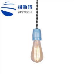 De decoratieve Kleurrijke Ceramische Lichte Inrichtingen van de Tegenhanger van de Contactdoos van de Lamp E26 E27 met Edison Bulb voor BinnenKroonluchter