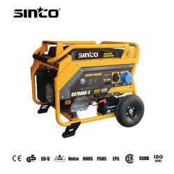 6.5Kw 7kw 6.5kVA Monofásico de 7kVA de potencia portátil arranque eléctrico generador de gasolina con CE/UE-V/EMC/Certificado de la EPA