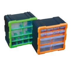 12 Fach-Plastikteil-Speicher-Fach-Behälter