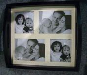 Bac à papier photo en bois