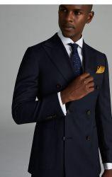 Fonction de fonction de double-breasted Men' S Business mariage marié costume laine Manteau décontracté