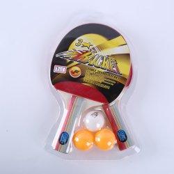 Preiswertes Preis-Tischtennis-Klingeln Pong Schläger-Set kommen mit 2 Schlägern und 3 Kugeln