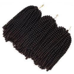 Il Crochet di colori di Ombre di torsione della molla della fibra di temperatura insufficiente intreccia le estensioni sintetiche dei capelli dell'intrecciatura