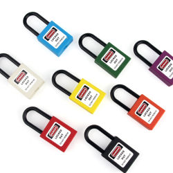 38mm Colorful Nylon Shackle Safety Padlock Lockout Padlock (BD-G11)