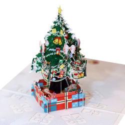 Árbol de Navidad 3D de Pop-up de bricolaje Tarjetas de Felicitación Tarjetas de Felicitación para el Año Nuevo
