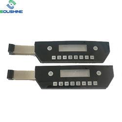 3X4 Interrupteur du clavier numérique de la Membrane Bouton plat avec câble flexible du clavier à membrane