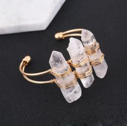 Personalità Creative pietra naturale bracciale di cristallo bracciale apertura per la donna