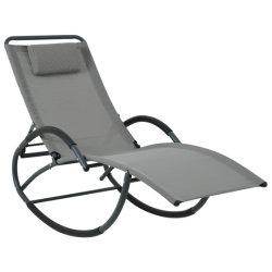 Cadeira de baloiço com cadeira de balanço Metal Swing para exterior com mobiliário de jardim Cinzento pillow