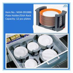 Tellerständer, Platten-Halter kann 12 PCS setzen. Küche-Befestigungen, Teller-Platte in der grauen Farbe