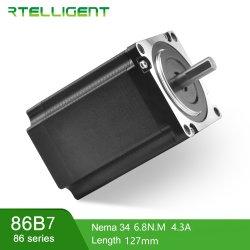 Rtelligent 3 단계 Laser 장비를 위한 강한 단계 모터 1.2 정도 86*86mm 6.8nm 4.3A 6 철사 잡종 NEMA 34 댄서 모터