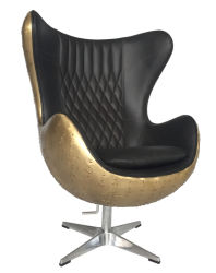 Eero Aarnio Cadeira de esfera giratória de baloiço Cooper Home sala de estar sala de escritório sotaque Couro Cadeira de ovo de Giro