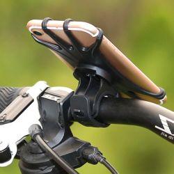 アマゾン調節可能な360度のハンドルバーの自転車のホールダーのバイクの携帯電話の台紙クリップホールダー