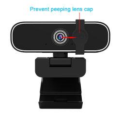 Double micro stéréo USB PC HD 1080P Caméra vidéo numérique à puce Webcam PC Portable gratuitement CCTV Auto Pilote Webcam USB 2.0 Calculateur de caméra de sécurité des pièces