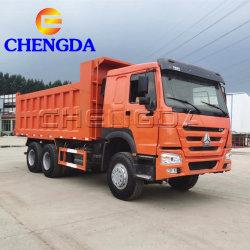 استخدمت عجلات Sino otruck HOWO 6X4 ذات العجلات 10X4 شاحنات Dumper شاحنة التفريغ