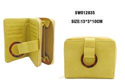女性の黄色の方法袋小さいハンドバッグの携帯電話袋は折った カードホルダー付きコイン財布ウォレット