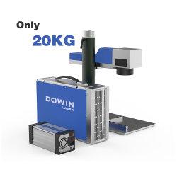 Bewegliche Mini20w 30W Raycus Faser-Laser-Markierungs-Maschine für Metallfirmenzeichen-Haustier-Marken-Leder pp. Belüftung-Hundeplakette-Laser-Markierung