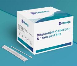 Wegwerppakket voor inzameling en transport VTM & UTM Viral Transport Kit met wattenstaafjes voor mediatest