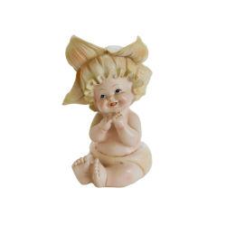 Hg19 Китай заводе индивидуальные Polyresin белый пластмассовый Angel фигурка Дом и сад украшения