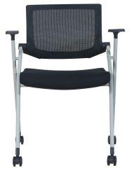 Venta caliente negro barato apilable ISO Sala Sala de reuniones muebles silla