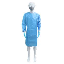 Visiteur jetable enduire manches Blouse chirurgicale productive avec l'arrière cravate pour laboratoire clinique