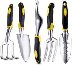 5pcs des outils de jardin jaune pour la plantation de la famille