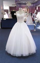 Off Fleur-de-chaussée de l'épaule Longueur robe de mariée robe de mariage (Q90361)