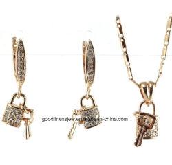 方法宝石類925の純銀製および黄銅の宝石類のキーおよびロックの一定の宝石類