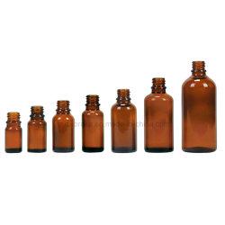 Bernsteinfarbiger Glastropfenzähler-zugeführte Flaschen DIN18mm