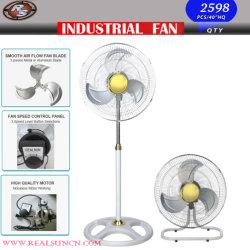 2 in 1 industriellem Ventilator mit weißer und goldener Farbe