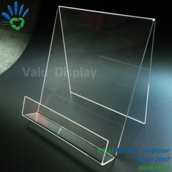Acryl Book Stand, Acrylic Book Easel Met Lip, Acrylic Portable Book Display Staat