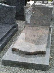폴란드 Market를 위한 중국 Red Granite Single Tombstone